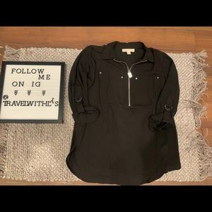 Michael Korda Black Women's blouse with zipper